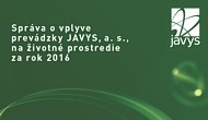 Report on Environmental Impact of JAVYS, a. s., Operation for the Year 2016
