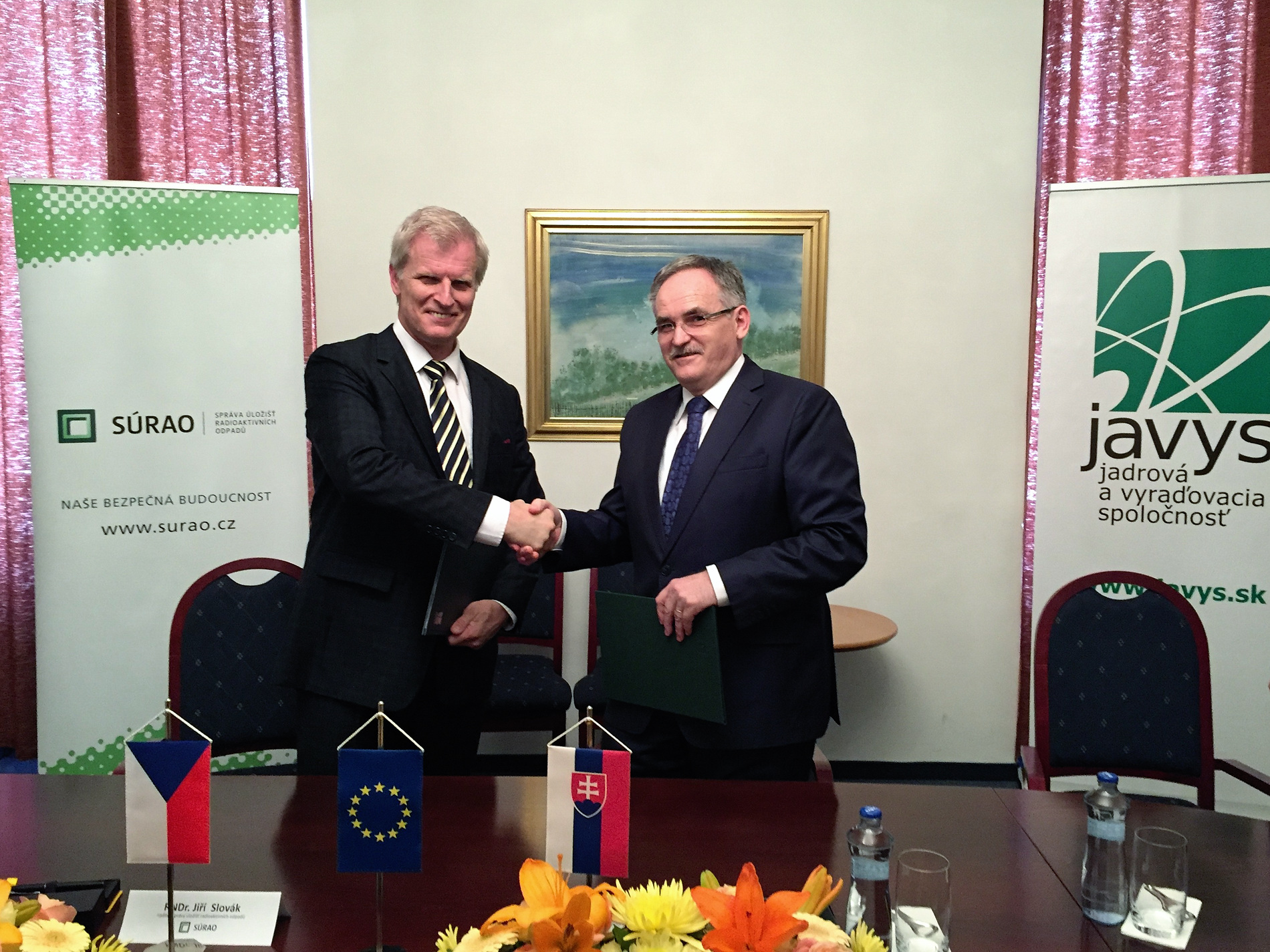 Company JAVYS, a. s., and Radioactive Waste Repository Authority (SÚ RAO) Sign the Memorandum of Understanding